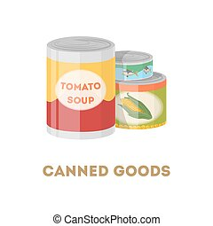 Canned goods set.