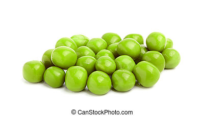 Canned green peas closeup.