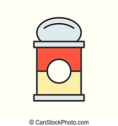canned soup, food and gastronomy set, filled outline icon