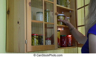 canned tomato jar - girl from kitchen cupboards take and...