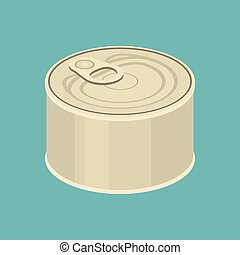 Canned - vector canned,flat design