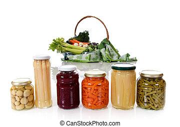 Canned versus fresh vegetables.