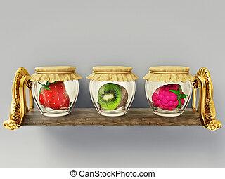 canned, vruchten