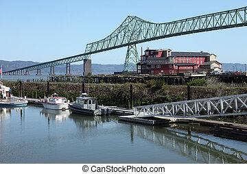 cannery., 橋, 古い, astoria, &