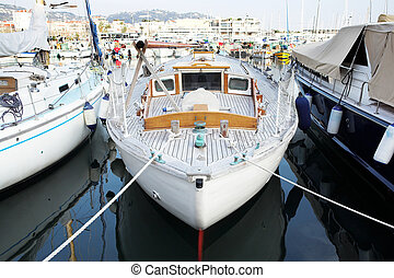 Cannes #53 - Yachts in the the harbor (Port Le Vieux) in...