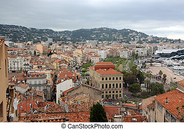 Cannes city view, France