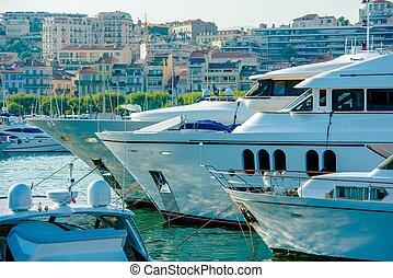 Cannes France Marina Boats