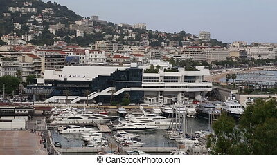 Cannes harbor France Cote d'Azur - DSLR Full HD progressive...
