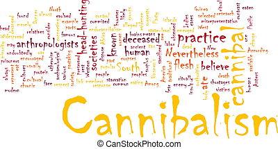 cannibalism, palabra, nube