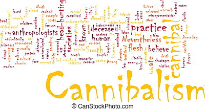 cannibalism, woord, wolk