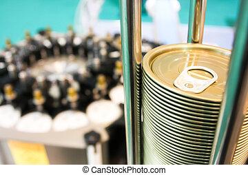 canning , closeup , εργοστάσιο , βούλλωμα , μπορώ