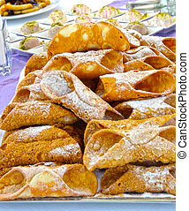 Cannoli, a typical Sicilian sweet