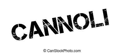 Cannoli rubber stamp