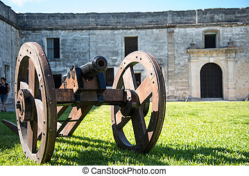 Cannon at St. Augustine Fort