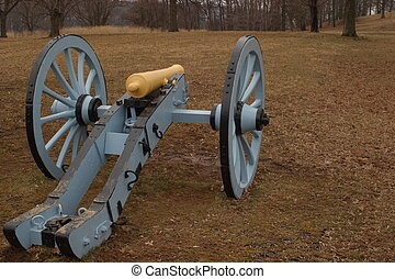 Cannon at the Artillery Park of Valley Forge National...
