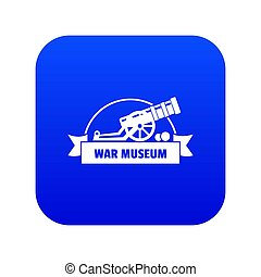 Cannon ball icon blue