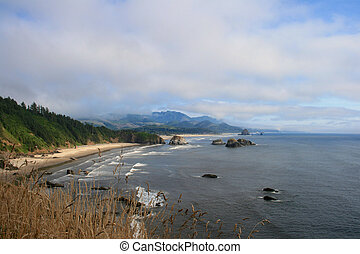 Cannon Beach at Oregon Coast