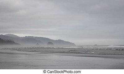 Cannon Beach Oregon at Lowtide - Beautiful Painterly Cannon...