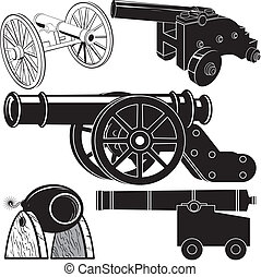 Cannon Collection - Clip art set of five different styles of...