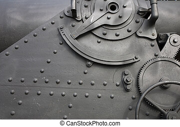 Detail of a cannon in Montjuic Castle, Barcelona, Catalonia, Spain