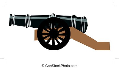 cannon - vector illustration of cannon