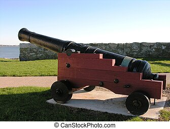 Cannon in fort.