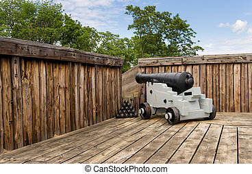 Cannon in Fort George in Ontario Canada