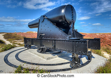 Cannon in Fort Jefferson, Florida - Cannon in Fort Jefferson...