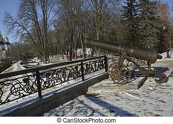 Cannon in the Val park in Chernigov