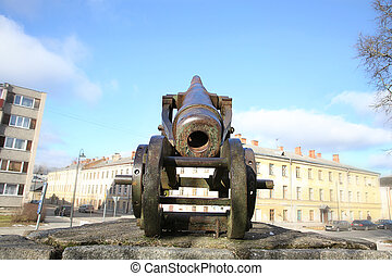 Cannon of 19th century in Daugavpils fortness - Monument of ...