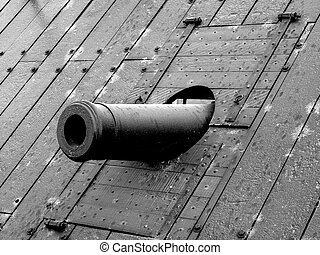 Cannon of USS Cairo - A cannon on the USS Cairo in Vicksburg...