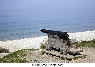 Cannon on the beach