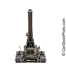 Cannon on white background