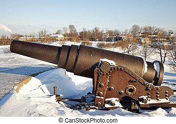 Cannon protecting Suomenlinna Sea Fortress