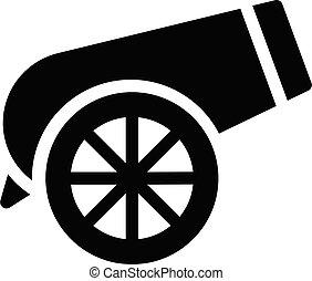cannon vector glyph colour icon