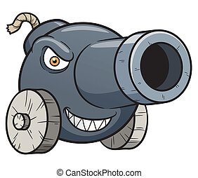 Cannon - Vector illustration of cannon cartoon