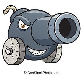 Cannon - Vector illustration of cannon cartoon
