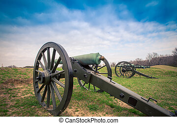 cannon Vicksburg Mississippi - Old cannons on the...