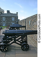 Cannons at Stirling Castle in Scotland