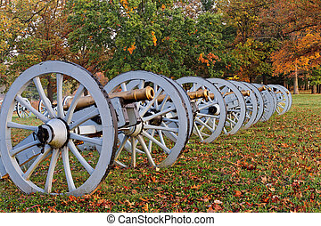 Cannons at Valley Forge National Historical Park - Autumn...