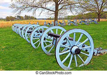 Cannons at Valley Forge - Revolutionary War cannons on...