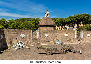 Cannons in Castel Sant'Angelo - Rome, Italy