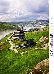 Cannons on Signal Hill near St. John\'s