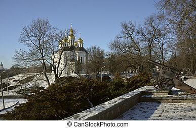 Cannons on the Val with the view of St. Catherine church