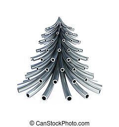 cano, árvore, metal, natal