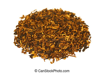 cano, branca, pilha, isolado, tabaco
