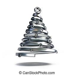cano, fir-tree, metálico
