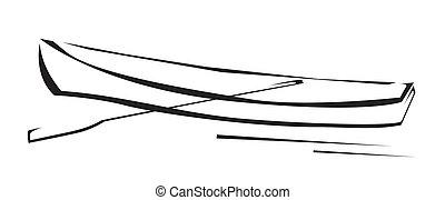 cano, jelkép, csónakázik