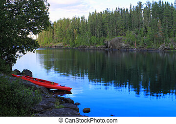 Canoe at the lake