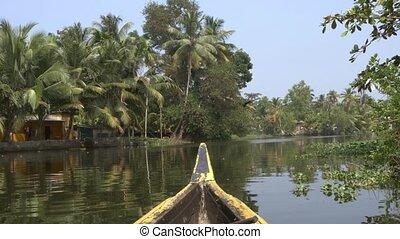 canoe boat on lagoons